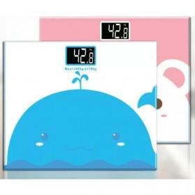 Taffware Digipounds Timbangan Badan Mini Digital Desain Kartun 180Kg - SC-01 - White/Pink - 2