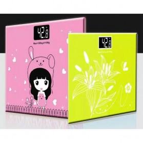Timbangan Badan Mini Digital Desain Kartun 180Kg - Taffware SC-01 - White/Pink - 3