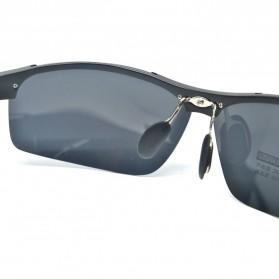 Aoron Kacamata Hitam Polarized Magnesium Sunglasses untuk Pria & Wanita - 2102 - Black/Black - 2