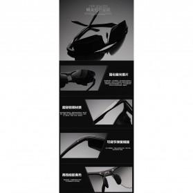 Aoron Kacamata Hitam Polarized Magnesium Sunglasses untuk Pria & Wanita - 2102 - Black/Black - 8