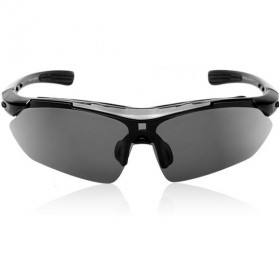 North Wolf Kacamata Sport Polarized Anti Sandstorm Glasses - Black