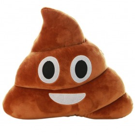 Vilead Bantal Kursi Smile Emoji Poop 21 CM - 0NN100127 - Brown