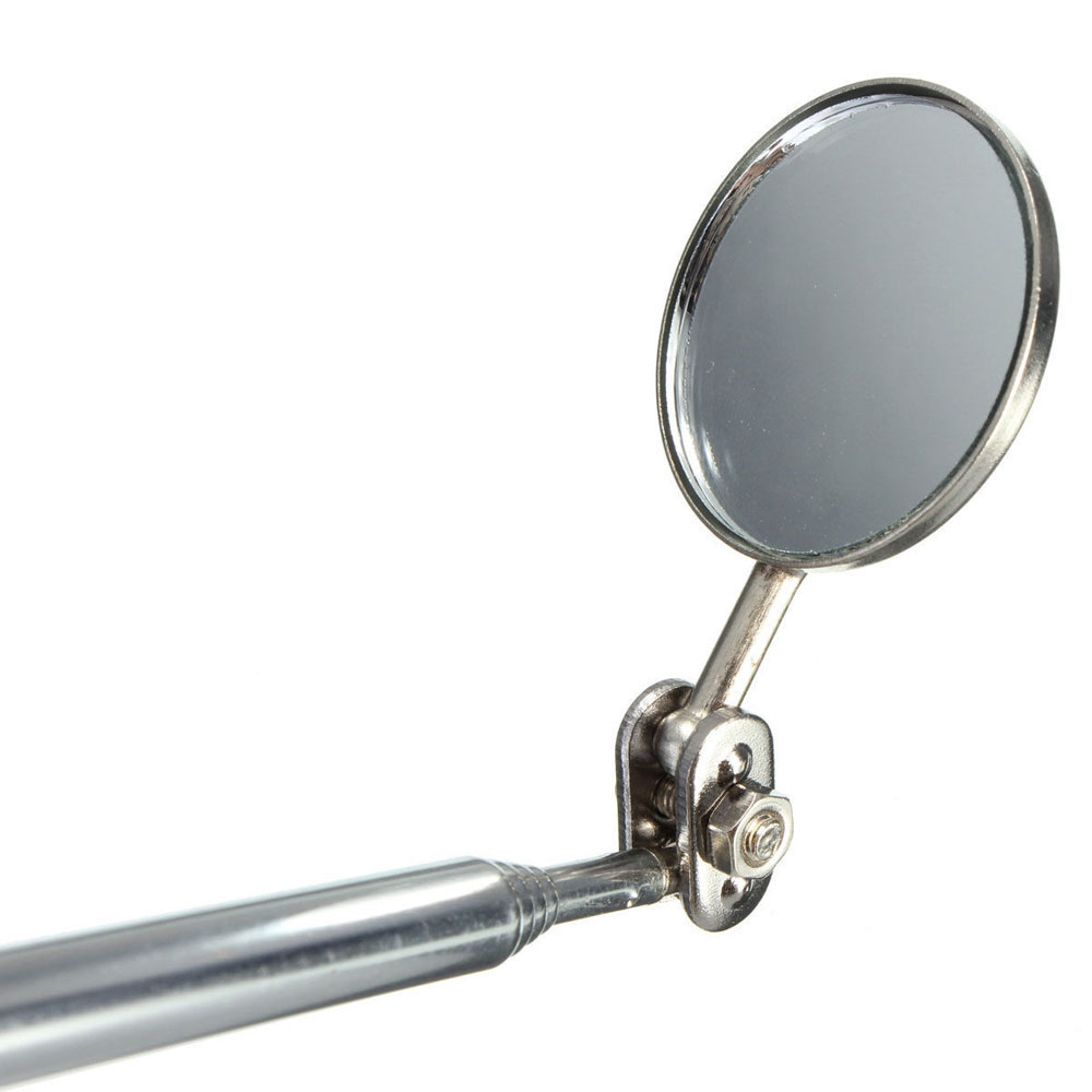Cermin Telescopic Pen Tools Stainless Steel Silver Kaca Spion Sepeda Mungil 3