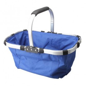 Keranjang Belanja Lipat Portable Shopping Bag - Blue