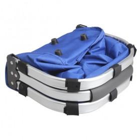Keranjang Belanja Lipat Portable Shopping Bag - Blue - 3