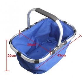 Keranjang Belanja Lipat Portable Shopping Bag - Blue - 5