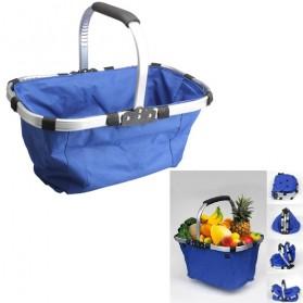 Keranjang Belanja Lipat Portable Shopping Bag - Blue - 6