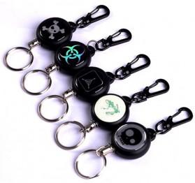 TAD Gantungan Kunci Dengan Tali Regang - Black
