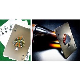 Pembuka Tutup Botol Kartu Poker Stainless Steel - RJ-A001 - Silver - 2