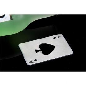 Pembuka Tutup Botol Kartu Poker Stainless Steel - RJ-A001 - Silver - 4