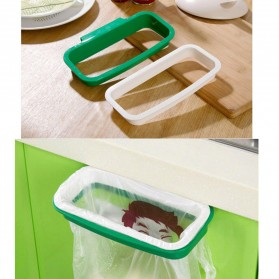 Rak Hanger Kantong Plastik Tempat Sampah - White/Green