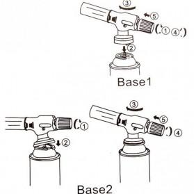 Firetric Flame Gun Portable Gas Torch - 807 - Black/Yellow - 9