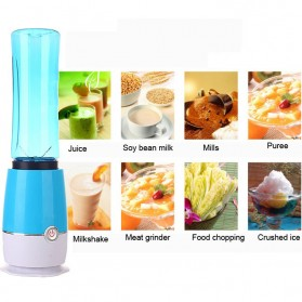 Shake n Take 3 Blender Buah Dobule Cup Portable 2 in 1 500ml - Blue - 4