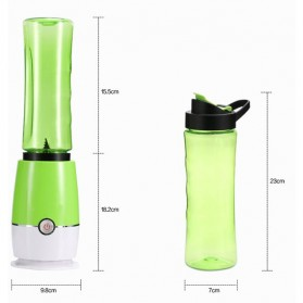 Shake n Take 3 Blender Buah Dobule Cup Portable 2 in 1 500ml - Blue - 7
