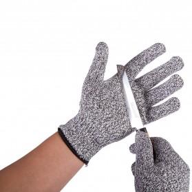 Sarung Tangan Keselamatan Tahan Goresan Pisau - Gray/Black