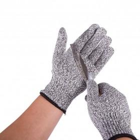GMG Sarung Tangan Keselamatan Tahan Goresan Pisau - AY1217 - Gray/Black - 3