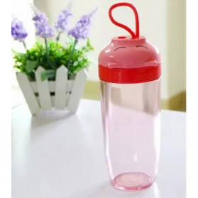 Botol Minum Sleeping Pig Plastic Cup 390ml - Red