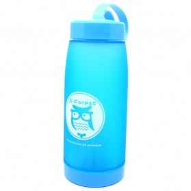 Botol Minum Cute Owl BPA Free dengan Saringan Teh 420ml - Blue
