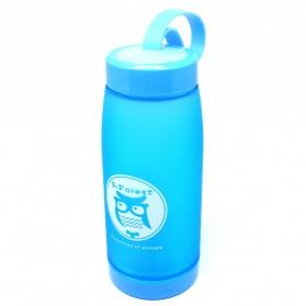 Botol Minum Cute Owl BPA Free dengan Saringan Teh 420ml - Blue - 2