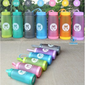 Botol Minum Cute Owl BPA Free dengan Saringan Teh 420ml - Blue - 3