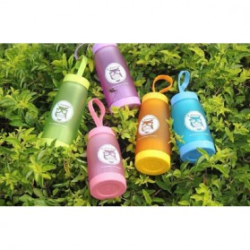 Botol Minum Cute Owl BPA Free dengan Saringan Teh 420ml - Blue - 4