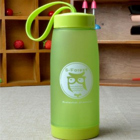 Botol Minum Cute Owl BPA Free dengan Saringan Teh 420ml - Blue - 5