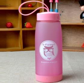 Botol Minum Cute Owl BPA Free dengan Saringan Teh 420ml - Blue - 6
