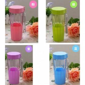 Botol Minum Cartoon Plastic Cup Leakproof Bottle 410ml - Blue - 2