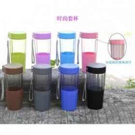 Botol Minum Cartoon Plastic Cup Leakproof Bottle 410ml - Blue - 3