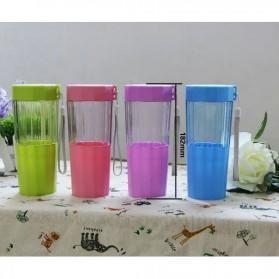 Botol Minum Cartoon Plastic Cup Leakproof Bottle 410ml - Blue - 4
