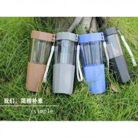 Botol Minum Cartoon Plastic Cup Leakproof Bottle 410ml - Blue - 5
