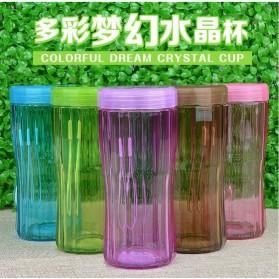 Botol Minum Fantasy Crystal Cup Unbreakable Bottle 320ml - Blue - 3
