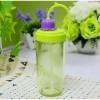 Botol Minum Flower Bud Straw 390ml - Green