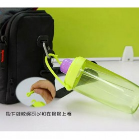 Botol Minum Flower Bud Straw 390ml - Green - 2