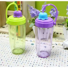 Botol Minum Flower Bud Straw 390ml - Green - 4