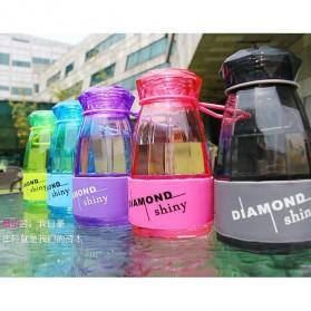 Botol Minum Diamond Shiny BPA Free 450ml - Blue - 3