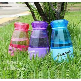 Botol Minum Diamond Shiny BPA Free 450ml - Blue - 6