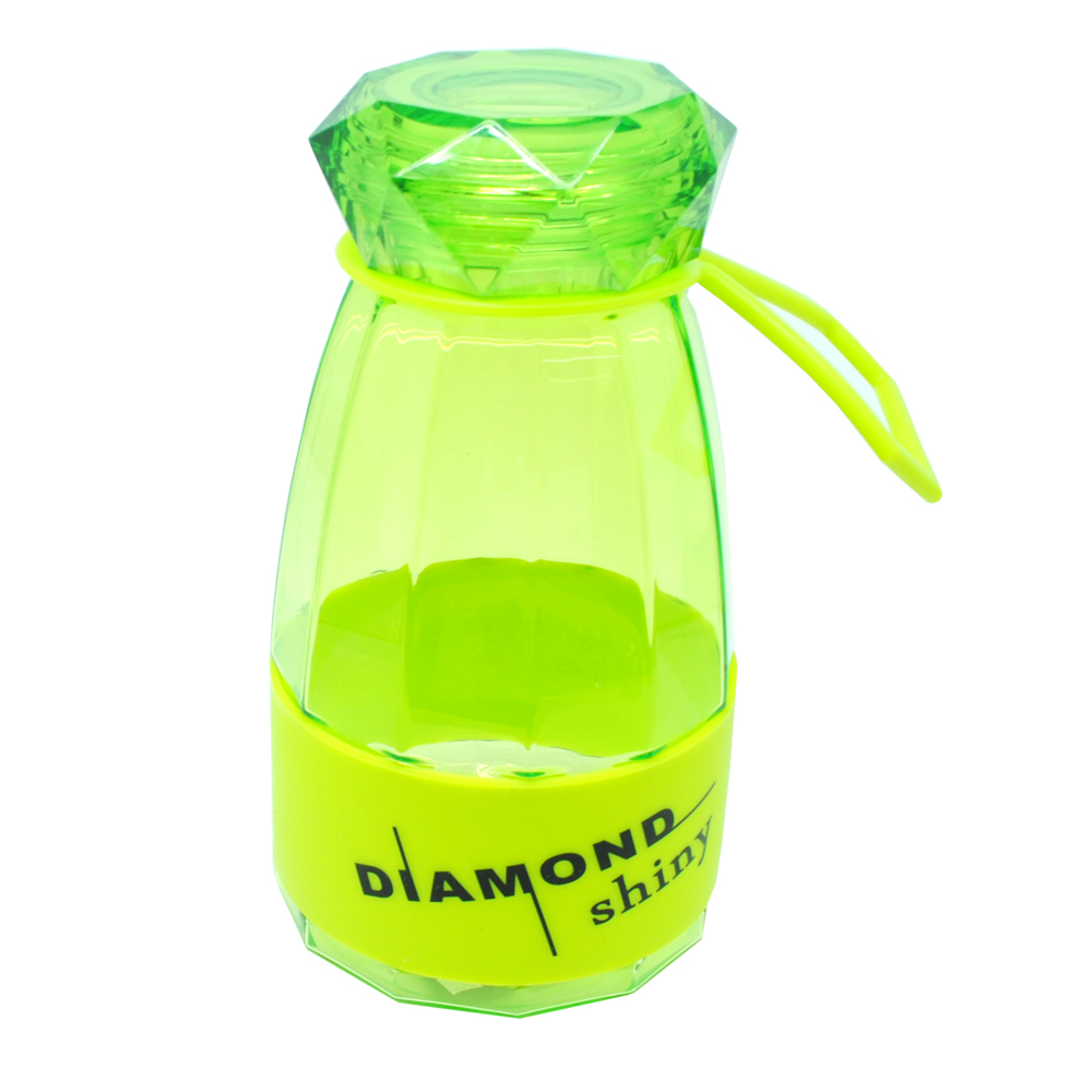 Botol Minum Diamond Shiny Bpa Free 450ml Green Qkella Thermos Stainless Steel 2