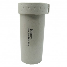 Botol Minum Enjoy Your Drinking BPA Free Unbreakable Bottle 350ml - Gray