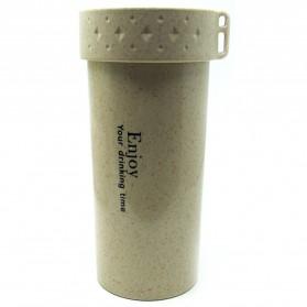 Botol Minum Enjoy Your Drinking BPA Free Unbreakable Bottle 350ml - Coffee