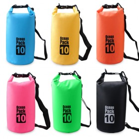 Outdoor Waterproof Bucket Dry Bag 10 Liter - Black - 7