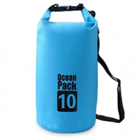 Outdoor Waterproof Bucket Dry Bag 10 Liter - Blue