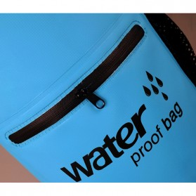 Outdoor Waterproof Bucket Dry Bag 10 Liter with Extra Pocket - OB-104 - Blue - 7