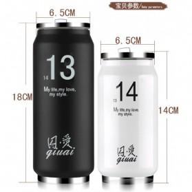 Botol Minum Kaleng Termos Insulated Mug 300ml / Thermos - Pink - 4