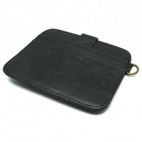 JINBAOLAI Dompet Kecil Kulit dengan Hasp Ring - C031 - Black - 2