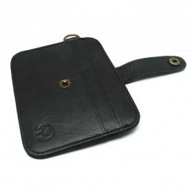 JINBAOLAI Dompet Kecil Kulit dengan Hasp Ring - C031 - Black - 3