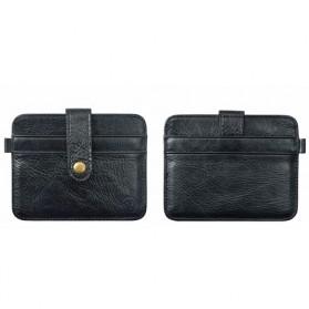 JINBAOLAI Dompet Kecil Kulit dengan Hasp Ring - C031 - Black - 4