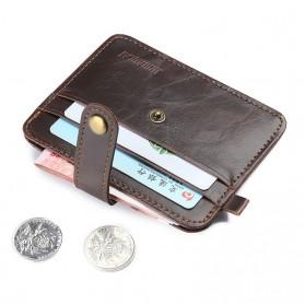 Dompet Kecil Kulit dengan Hasp Ring -1282 - Dark Brown