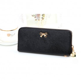Dompet Genggam Korean Cute Bowknot Purse Clutches Handbag - Black