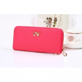 Dompet Genggam Korean Cute Bowknot Purse Clutches Handbag - Rose